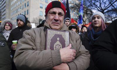 Kanada Quebec'teki cami saldırısının ardından düzenlenen protesto